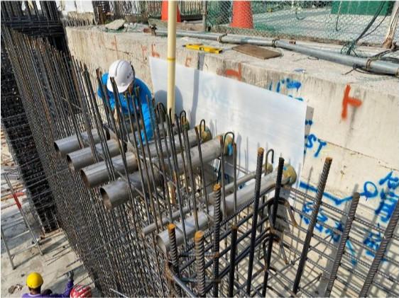 外管線引進管套管施作(消防採水、自來水、泳池)