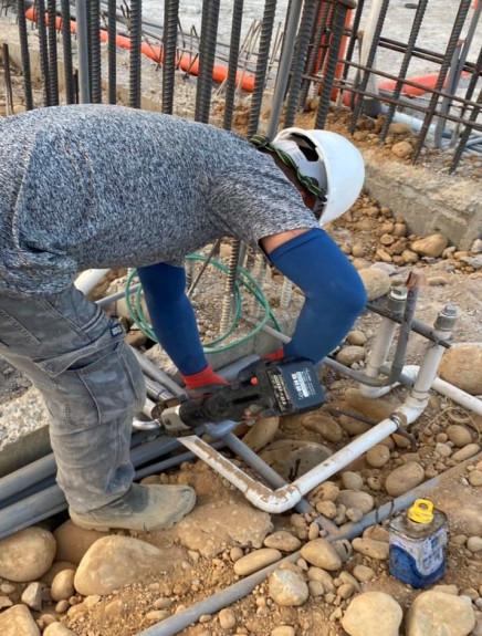SD 區 1F 底板水電配管