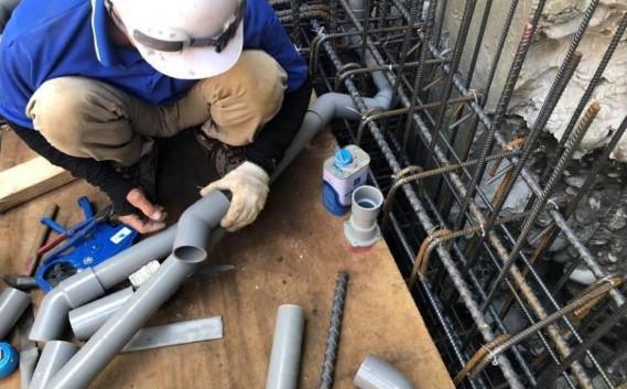 B3F 底板水電排水管路配置