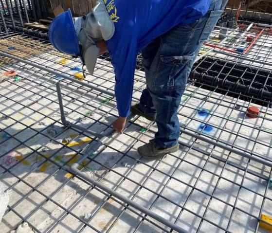 B棟7F底板水電配管(冷氣排水配置)