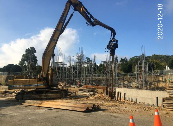 會館鋼軌樁拆除