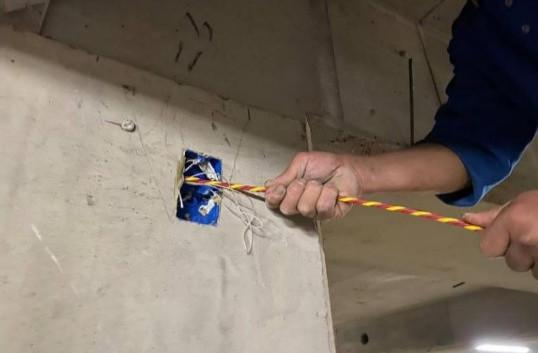 B5F 弱電管路水線拉設