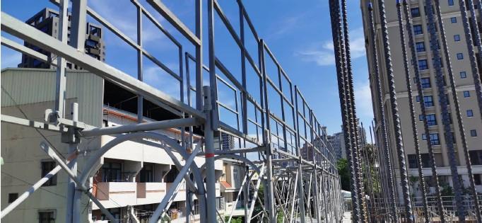 1MF施工架扶手欄桿組裝