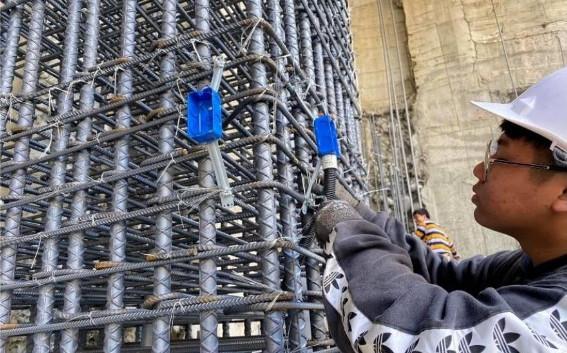 B3F 柱牆水電管路配置(出線盒放樣安裝)