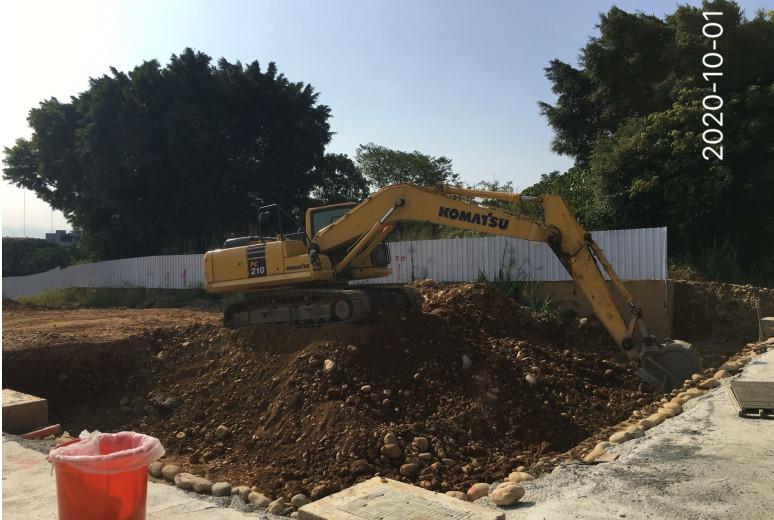 C區基礎開挖及S區基礎回填作業