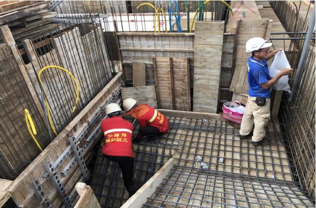 3 FL樓梯鋼筋綁紮施工