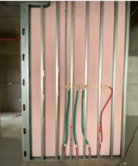 A 棟 4F 室內輕隔間管路配置