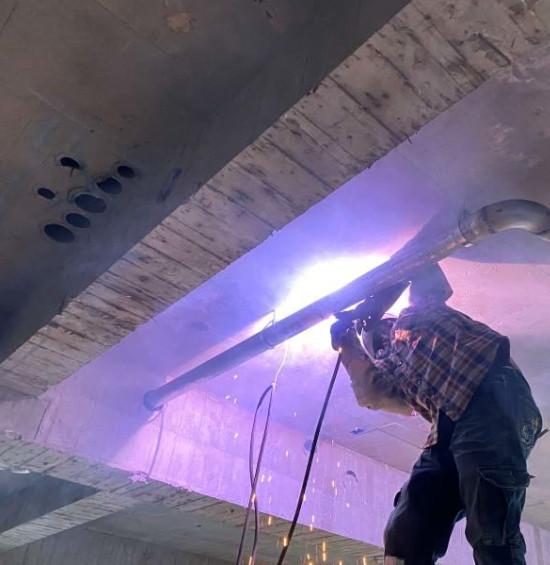 B 棟 3F 公設區瓦斯管路焊接配置