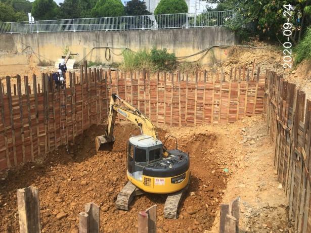 會館土方開挖作業
