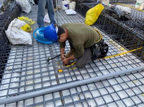 1F 底板水電管路配置(出線盒管路連通)