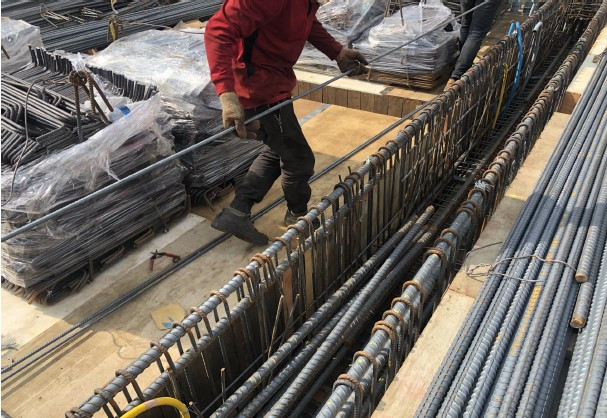 3 FL 樑鋼筋綁紮施工