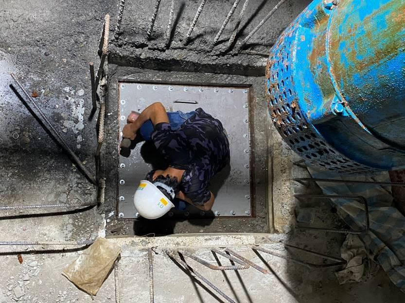 工區2號井吊除及封井作業