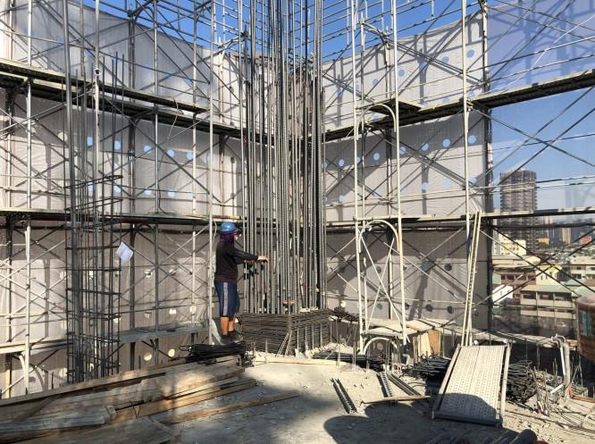 7FL(B棟)柱鋼筋鎖接作業