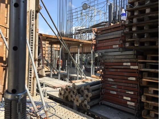1 MF牆、樑底模板組立