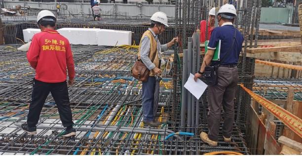 1F市政府指定堪驗技師柱鋼筋查驗