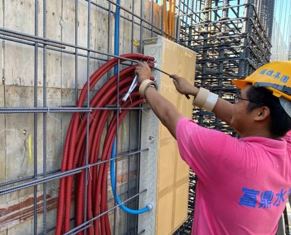 A棟7F柱牆水電配管(各戶開關箱管路配置)