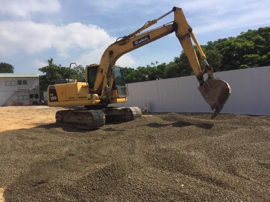 開工動土區域碎石鋪設