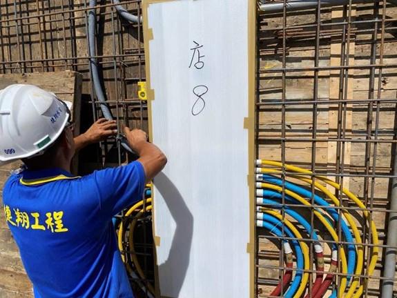 2F柱牆水電配管(開關箱管路配置)
