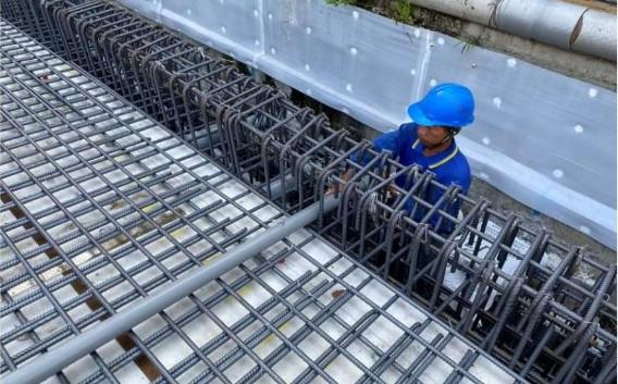 1F 底板水電管路配置(刮泥墊排水配置)