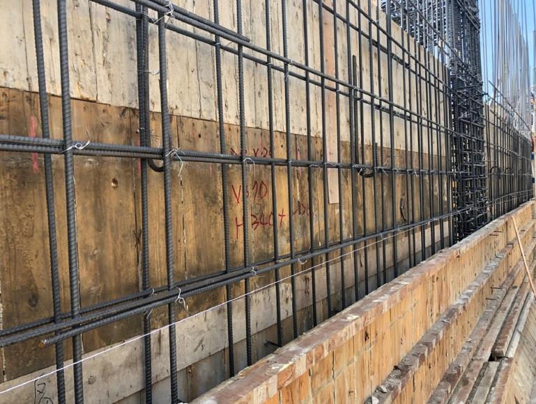 A棟 15F牆筋綁紮