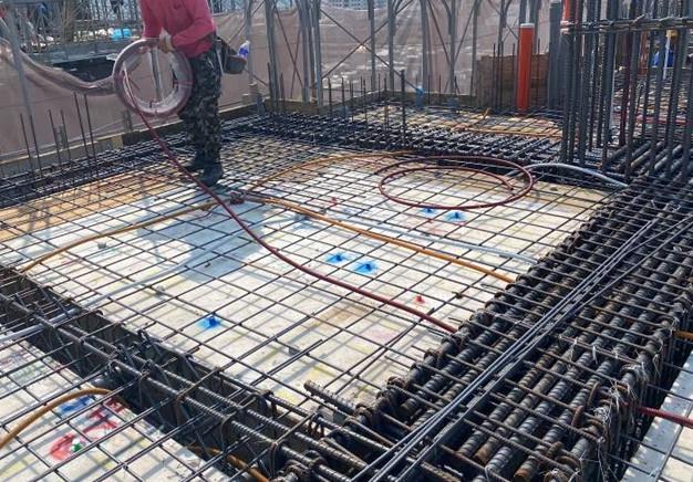 A棟12F底板水電配管