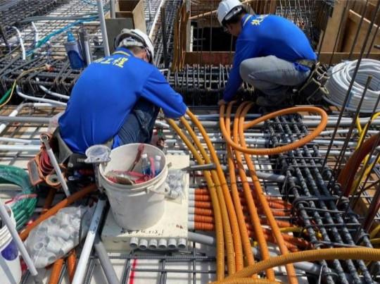 1F 底板水電管路配置(消防管路連通)