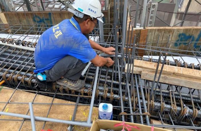 A棟6F底板水電配管(滴灌管路配置)