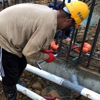 C 區 1F 基礎排水配管