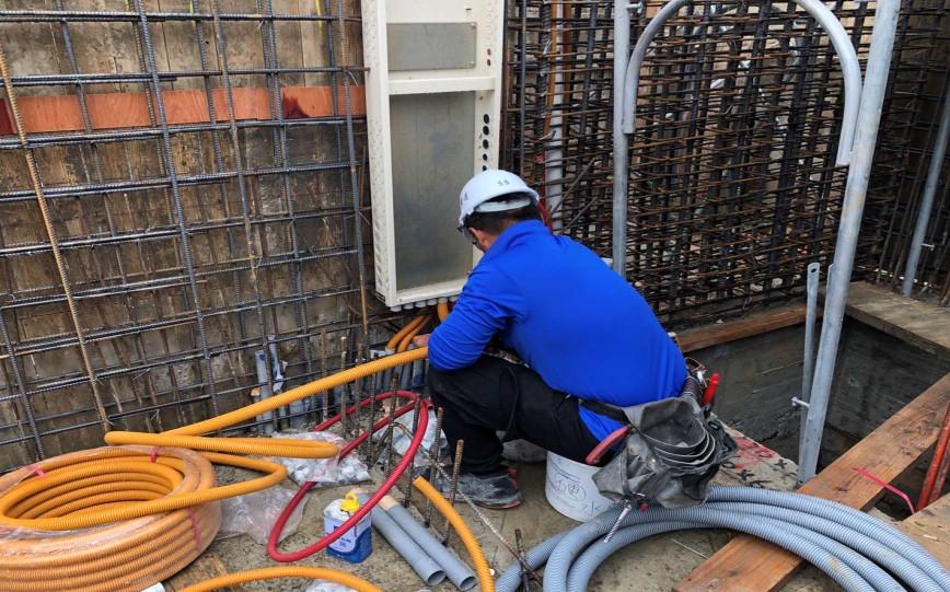 D 區開關箱電源管路配管
