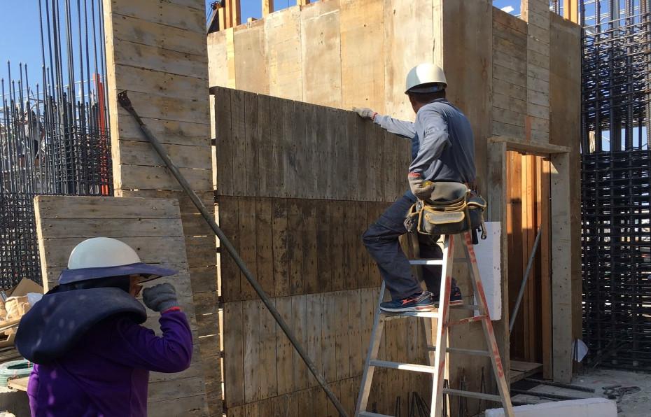 5F(B 棟)牆模組立作業