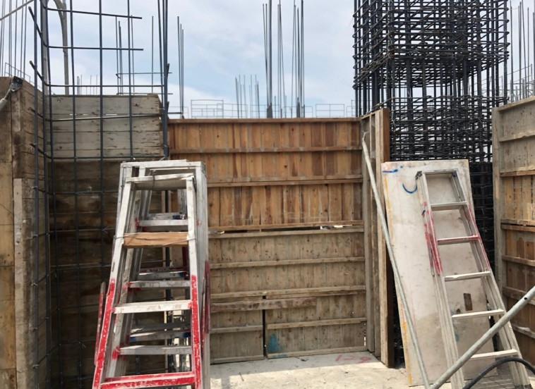 A棟 15F牆模組立