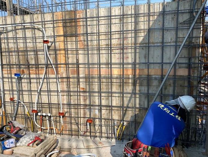 B棟12F底板給水管路壓力測試