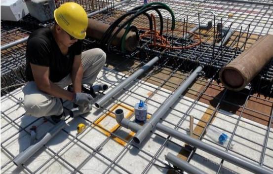 1F 底板水景設備管路配置