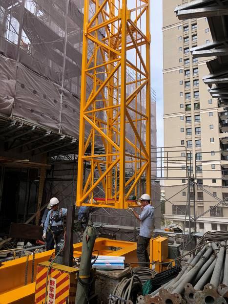 工區塔吊設備安裝作業