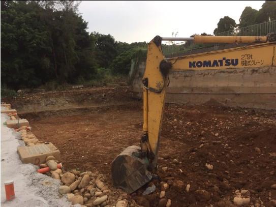 基礎開挖及整地 (D 區 D15~18)