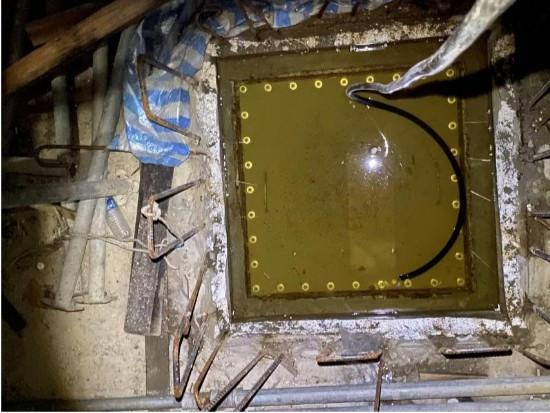 工區 1、5 號井封井後放水測試是否密封