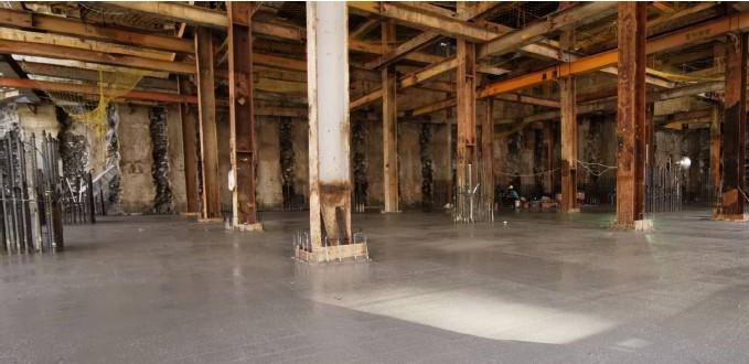 B3FL RC 澆置作業及整體粉光施作