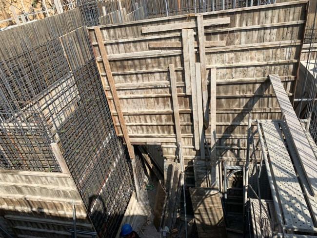C 區淺樑,會館牆模板組立-1