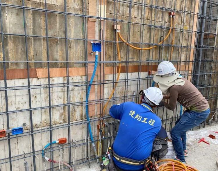 B 棟 10F 柱牆水電配管