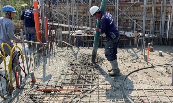 C2.3區混凝土澆置