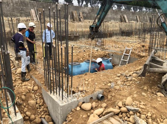 D10-18 FRP 埋設作業