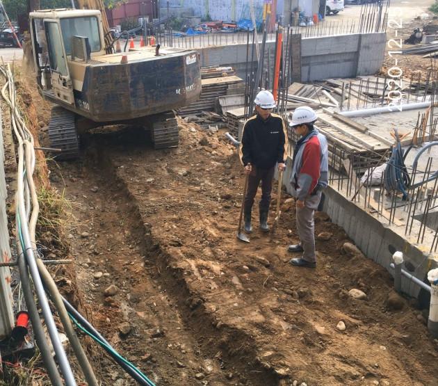 會館圍牆基礎整土