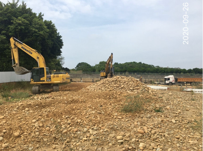 C區基礎開挖作業