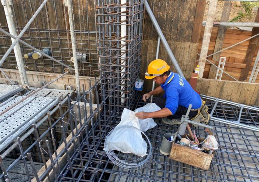 會館車道降板區水電配管