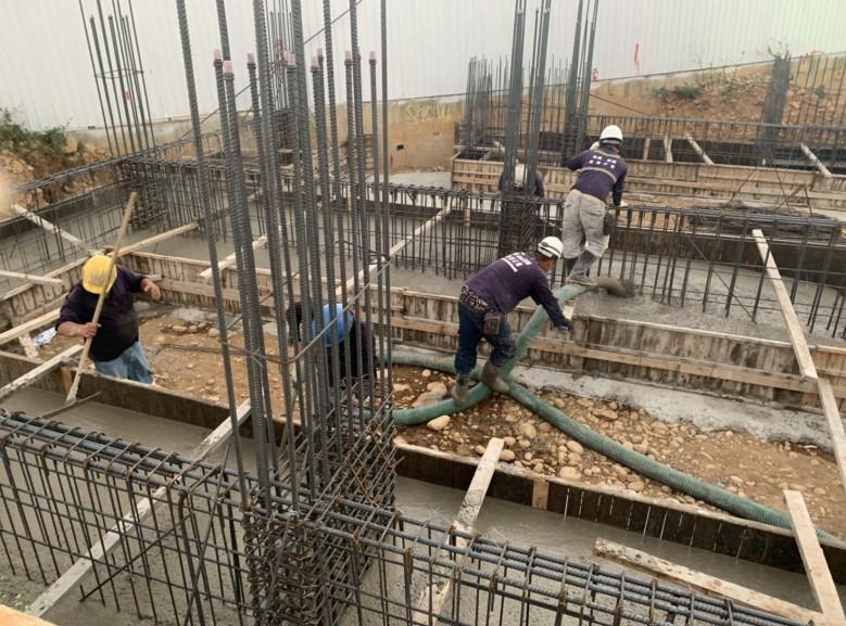 C10-C16基礎混凝土澆置