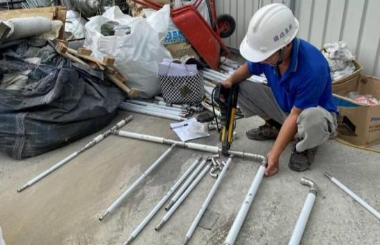 1F 底板給水管路備料及加工