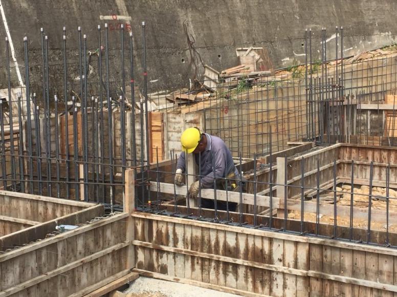 S.D區淺樑.會館地下室基礎模板組立