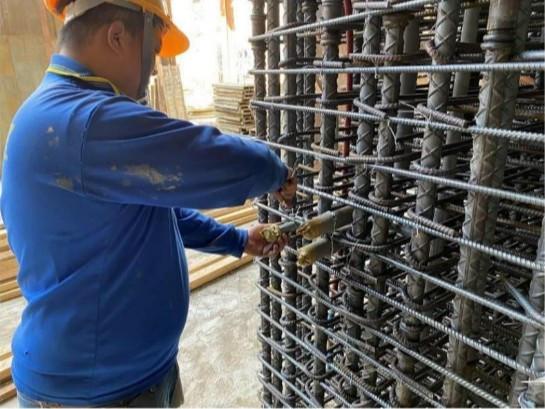 B3F 柱牆水電管路配置(臨時水電管路出口配置)