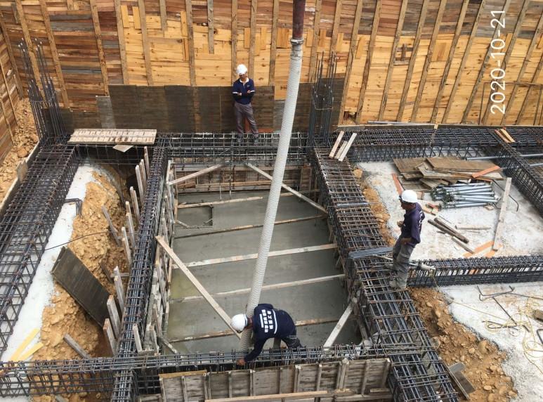 會館B1F廢水池混凝土澆置