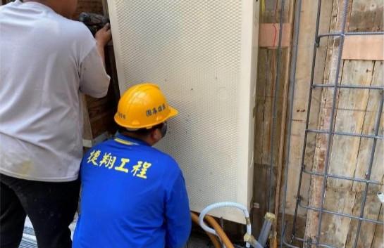 B3F 柱牆水電管路配置(消防箱安裝定位)